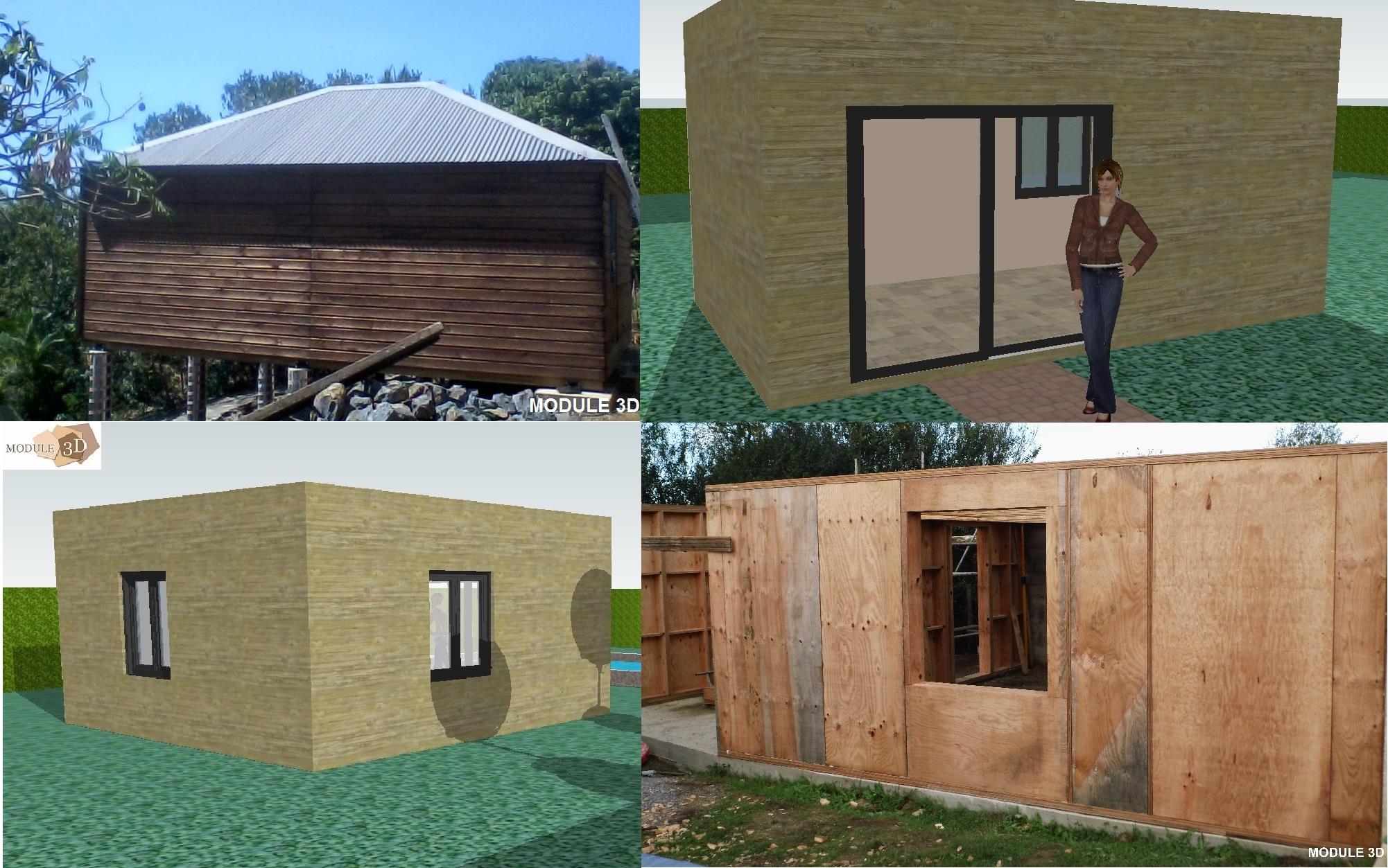 Kit extension bois autoconstruction for Module extension bois